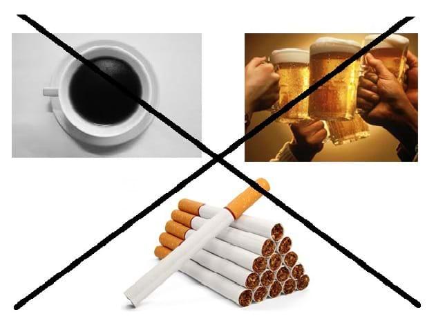 Nói không với rượu, bia, thuốc lá và các chất kích thích