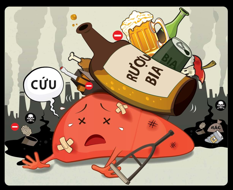 Cai rượu bia sẽ giúp giảm hẳn viêm gan b triệu chứng