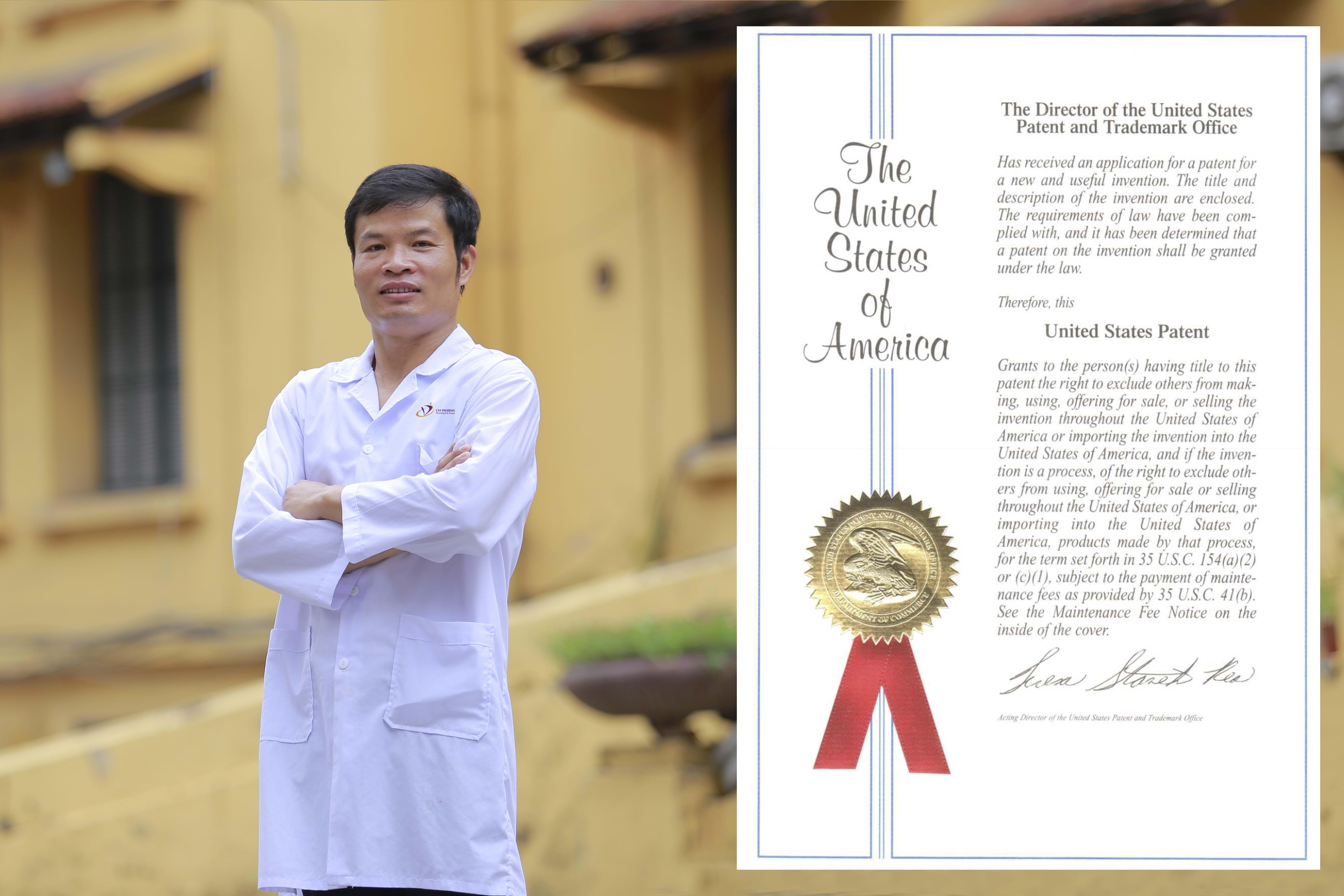Đề tài nghiên cứu của TS Trần Đức Dũng đã được Mỹ và Đài Loan cấp bằng sáng chế