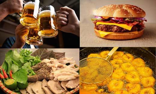 Những đồ ăn và đồ uống bệnh gan nhiễm mỡ độ 2 nên kiêng