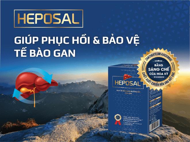 Heposal chứa 2 thành phần quý là Ưng Bất Bạc và Phosphocomplex